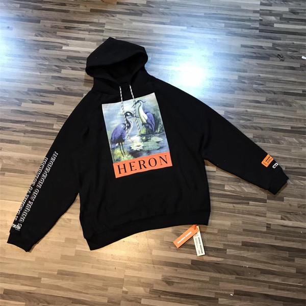 Heron Preston Hoodie Männer Frauen Hohe Qualität Heron Preston Sweatshirts Mandschurenkranich Mode Männer Heron Preston Hoodie