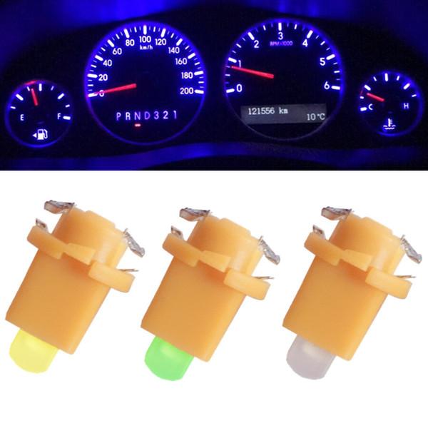 10 adet Araba Oto COB 1SMDLED Hindistantor Ölçer Işıkları İç Dashboard Dash Yan Lamba DC12V Kırmızı Beyaz Mavi enstrüman Işık