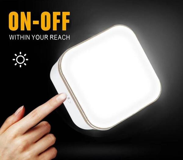 Lámpara LED de luz Touch Touch Dual usb Travel Wall de carga para iPhone Huawei P Smart P20 cargador de luz nocturna