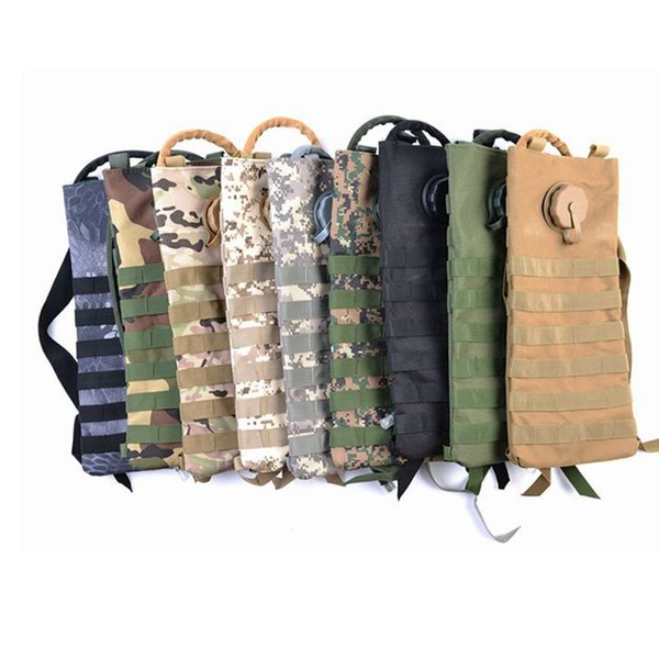3L Hiking Sport Hydration Pack Tactical Molle Water Bag Assault Backpack Pouch