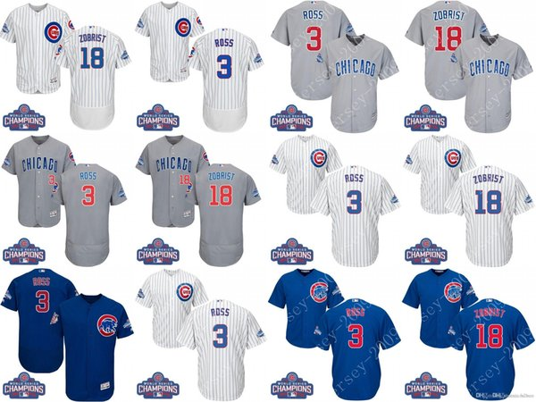 watch fa026 3d3ca 2019 2016 World Series Champions Patch Mens Women Kids Youth Cubs Jerseys 3  David Ross 18 Ben Zobrist Baseball Jersey Cool Base 100% Stitched From ...