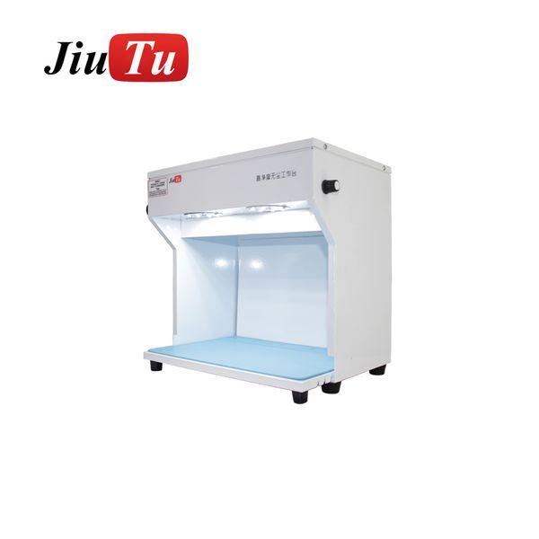Stanza di pulizia della macchina di riparazione dell'affissione a cristalli liquidi di Smartphone della Tabella di lavoro della stanza senza polvere di Jiutu mini con la stuoia 220V