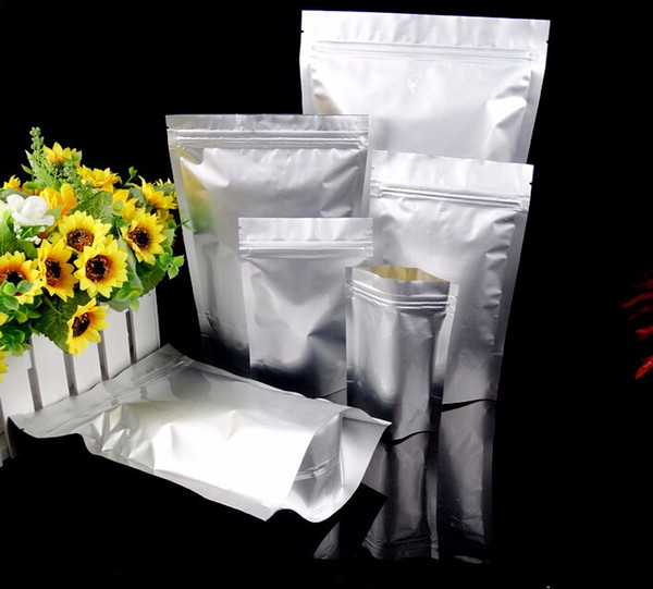 High Quality Aluminum Foil Ziplock Bag Stand Up Zipper Lock Food Savers Retail Packaging Bag Beans Storage Bag free shipping