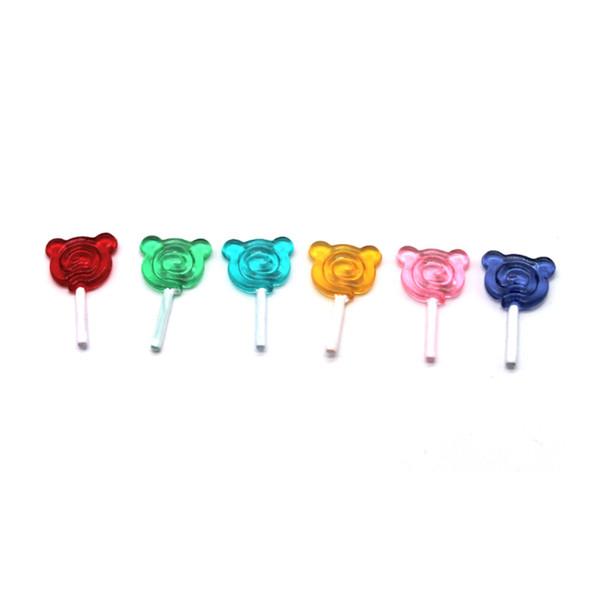 Regalo per bambini in miniatura di una casa delle bambole da 5 pezzi: 12 snack Giocattoli per la casa delle bambole di lecca lecca di orso di caramelle