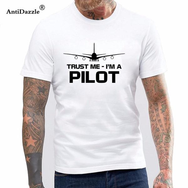 eb69e054 Antidazzle Newest 2017 Men's Fashion Mens Teestrust Me I'M A Pilot Tshirt  Funny Flight