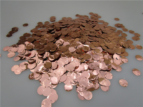 Metallic Rose Gold Round Tissue Paper Confetti Balloon Filler 1kg/bag 1cm Birthday Party Wedding Baby Shower Table Decorations