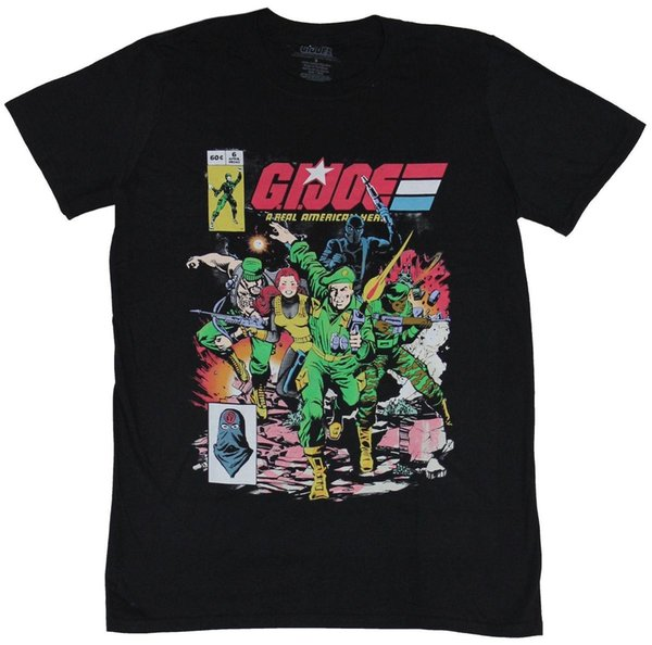GI Joe G.I. Joe Mens T-Shirt - Charging Group Comic Cover Image Top Quality T Shirts Men O Neck