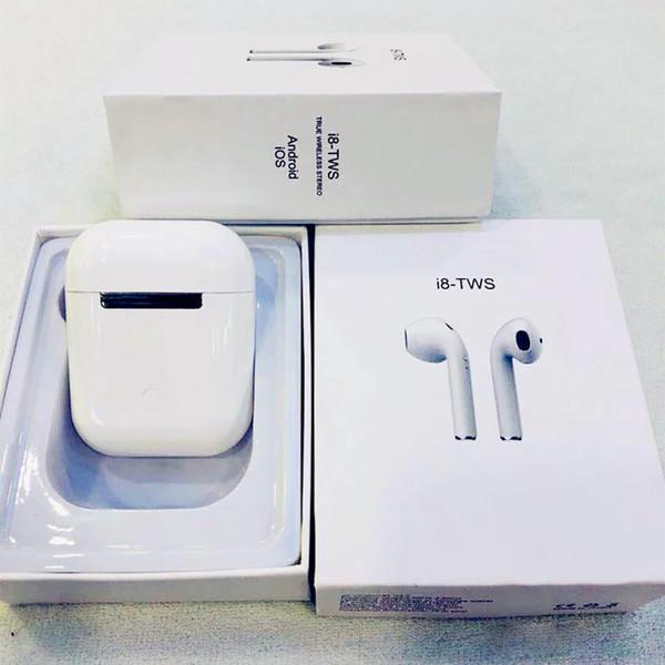 I7 I7S TWS I8 I8X I9S Zwillings-Kopfhörer-Kopfhörer Gute Qualitäts-drahtloser Kopfhörer mit dem Ladegerät-Kasten-Magneten, der für Universaltelefon auflädt