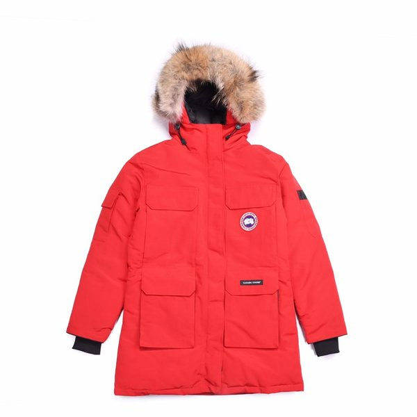 Canadian Fashion Winter Sports Brand Man 100%Goose down thick high quality Warm Jacket Hooded Casual Cotton Coat Outfit