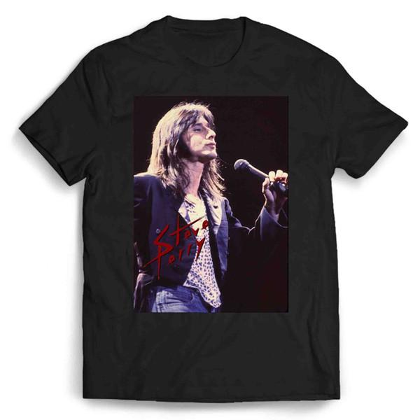 Steve Perry Classic Rock Homem / Mulher T-Shirt 100% algodão casual impressão de manga curta homens camiseta o pescoço