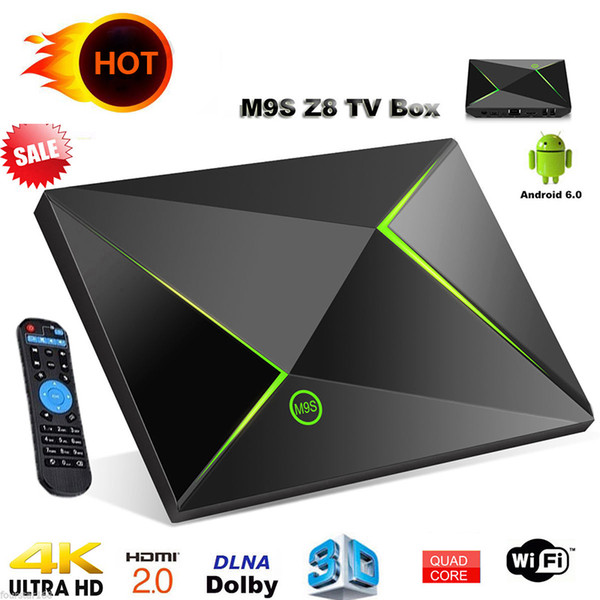 m9s z8 android tv box 2 GB di memoria 16 GB di memoria Android 6.0 Amlogic S905X Quad Core Streaming Media Player Box WiFi