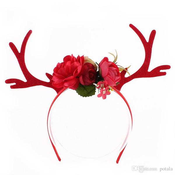 Christmas Headband For Adults.2018 Reindeer Antlers Headband Christmas And Easter Party Diy Women Girs Kid Christmas Deer Costume Ear Party Hairband Xmas Halloween Party Uk 2019