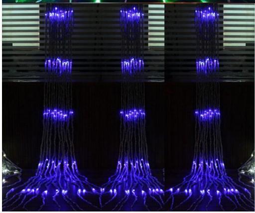 6 mx 3 m 640LED Festa de Casamento de Natal de Fundo de Água em Feriado Cachoeira Água Fluxo de Água Cortina de Luz LED À Prova D 'Água