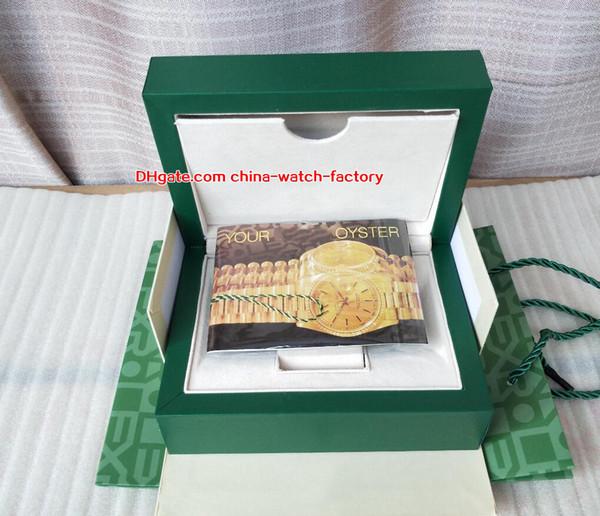 Venda quente de Alta Qualidade Perpétua Relógio Verde Original Caixa de Cartão de Caixas de Bolsa Para O Presidente Cosmograph 116660 116610 126710 126600 Relógios