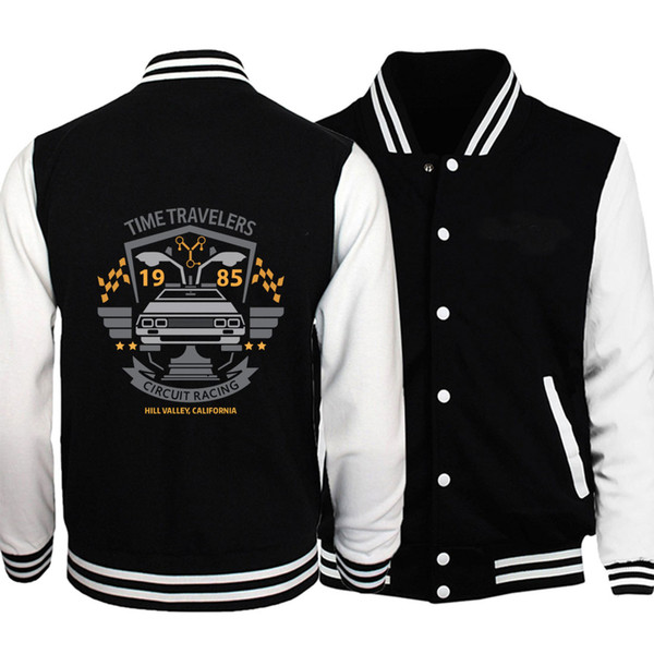 2018 autumn winter fleece baseball jackets Sportswear brand clothes Men bodybuilding Classic Movie Series sweatshirt fitness man