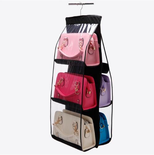 Family Organizer Backpack handbag Storage Bag Be Hanging Shoe Storage Bag High Quality Home Supplies 6 Pocket Closet Rack Hanger