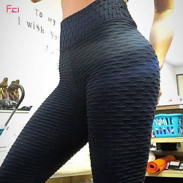 FRECICI Sexy Push Up Workout Leggings Women High Waist Tight Leggins Mujer Wrinkle Absorbent Breathable Women b Leggings