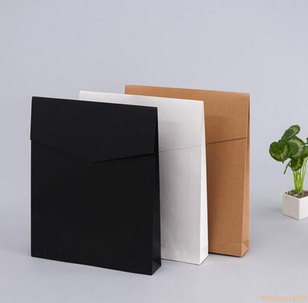 500pcs/lot Kraft Paper Envelope Gift Boxes Present Package Bag For Book/Scarf/Clothes Document Wedding Favor Decoration
