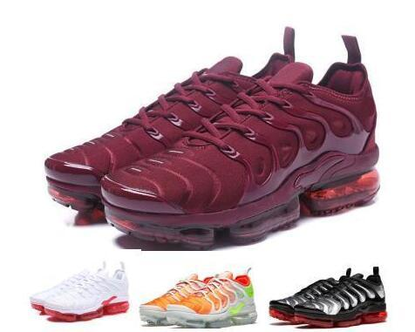 separation shoes 2b61b 32299 2018 Vapormax Tn Plus Running Shoes Sneakers Mens Women Triple White Cargo  Sherbet Vm Casual Sports Canvas Tennis Training Designer Zapatos Shoe From  ...