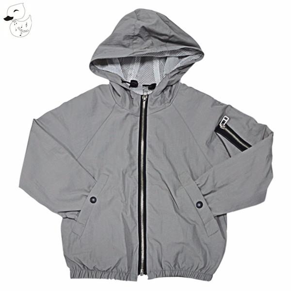 Erkek ceketler Bahar Sonbahar Kapüşonlu Bebek kız Giyim Mont Çocuk Ceketler Rüzgarlık Giysileri geri nakış