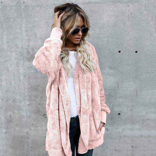 Fleece Cardigans Women Plus Size Long Cardigan Womens Sweaters 2018 Winter Autumn Thin Hooded Sweater Women Cardigan Coat Pull