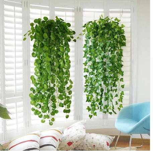 Artificial Green Leaf Ivy Wall Decor Room Decoration Fake Plants Wedding Decoration Vine Outdoor Indoor Plants Garden 10
