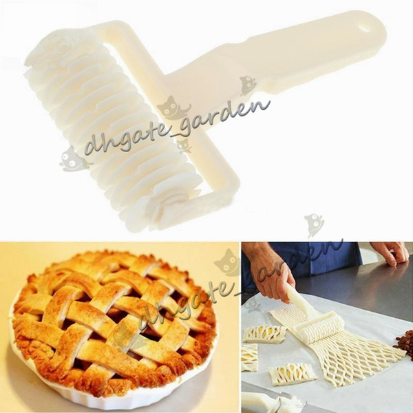 Pie Pizza Cookie Baking Lattice Roller Cutter Pastry Baking cooking Tools knife Bakeware Embossing Dough Roller Lattice Craft high quality-1