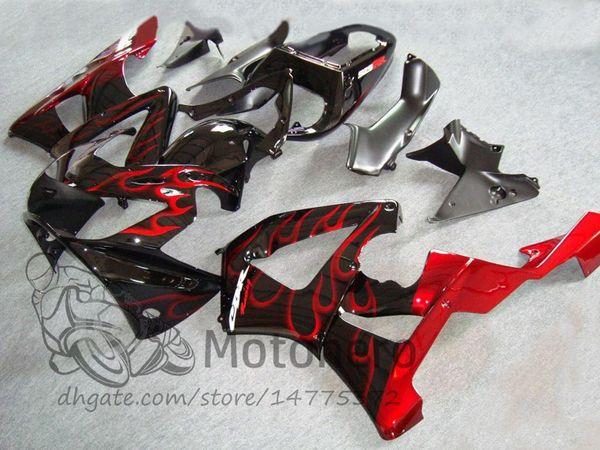 Injection mold For Honda CBR 929 900 RR 929RR 2000 2001 CBR900RR CBR929 00 01 Motorcycle Fairing Kit Red Flame fairings