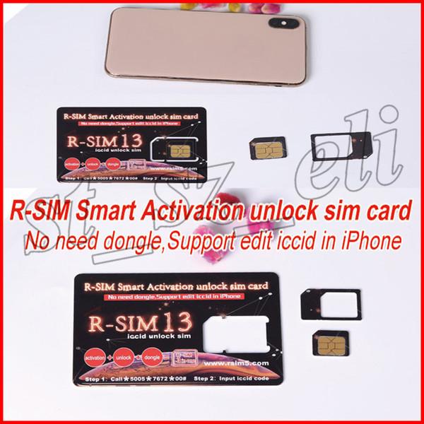 R-SIM 13 Rsim 13 RSIM 13 Tarjeta SIM de desbloqueo de activación inteligente rsim13 r sim13para iPhone 7 8 Soporte XS MAX ed iccid