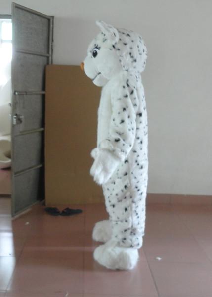 Son yüksek kaliteli ayni çekim beyaz leopar maskot kostüm yetişkin leopar maskot ücretsiz kargo Tatil özel giyim