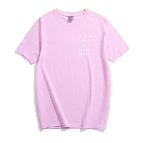 New York London Paris Milan Letter Print Tees Short Sleeve T-Shirt Women T Shirt Summer Cotton T-Shirt Women Tops Causal T-Shirt