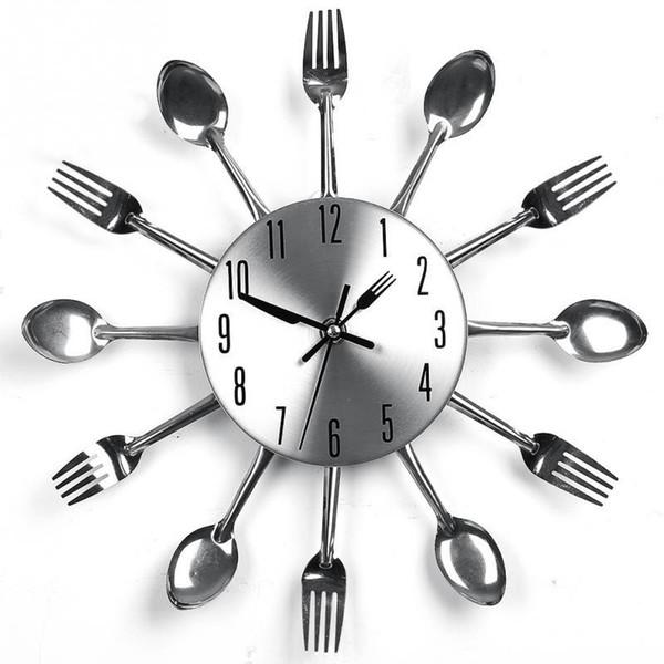Acquista Design Moderno Orologi Da Parete Nastro Posate Da Cucina Orologio  Da Parete Cucchiaio Forchetta Orologio Home Decor A $14.5 Dal Chenjin1451 |  ...