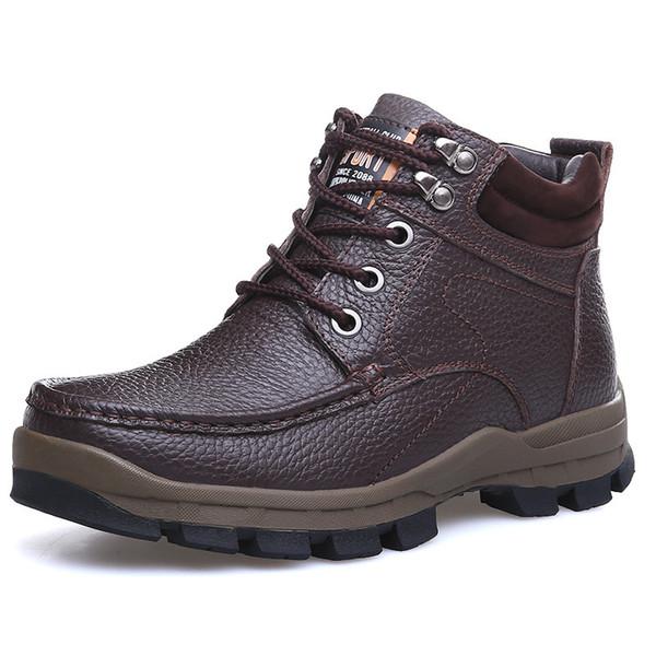 Winter Marke Große Größe Männer Schuhe Martin Stiefel Aus Echtem Leder Warme Schneeschuhe Casual Männer Motorradstiefel Botas Hombre