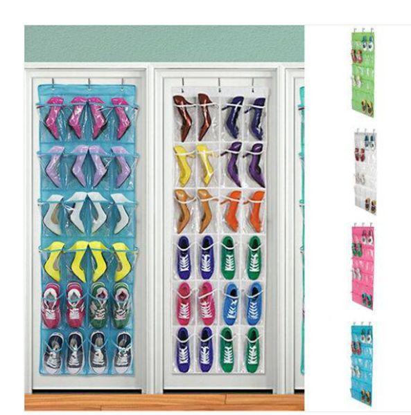 2019 Wholesales Pocket Home Over The Door Hanging Organizer Storage Holder Rack Closet Shoes