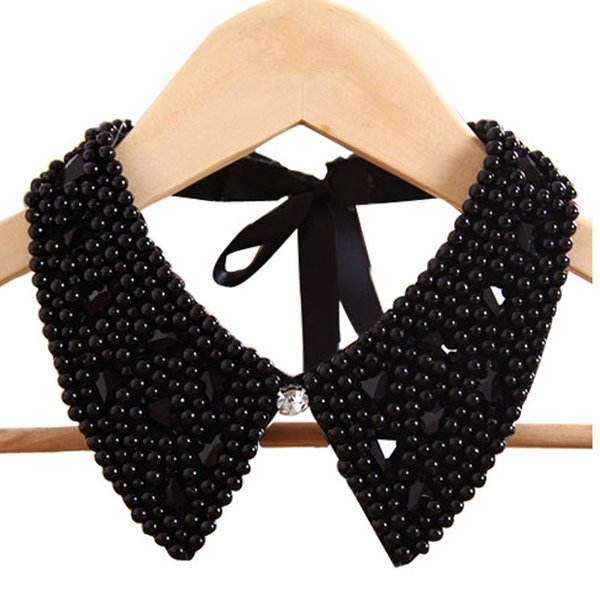 Handmade jewelry new vintage fashion crystal collar necklace pendent lace beads pearls neck collars accessories wholesale gift
