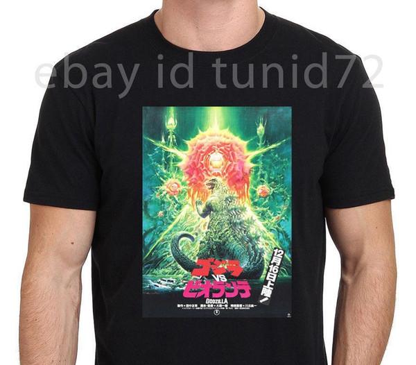 Godzilla vs Biollante Japão Clássico Monstro T-Shirt dos homens Tamanho Preto S-3XL Venda Quente Camisa Dos Homens T Moda Casal