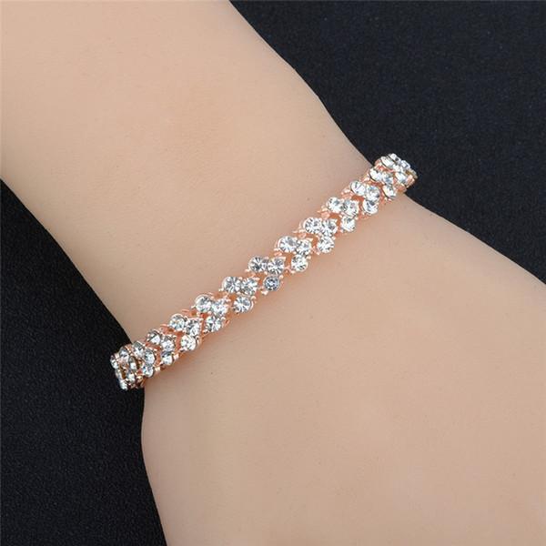 Hot style Wholesale lady Roman bracelet AAA zircon crystal bracelet fashion accessories ultra flash insert full diamond Charm Bracelets