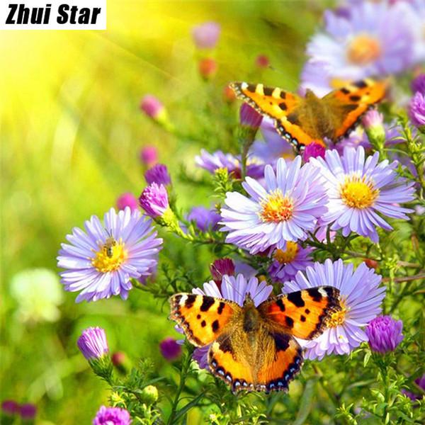 Satın Al ücretsiz Kargo Elmas Nakış Kelebek çiçek Oya çapraz Dikiş