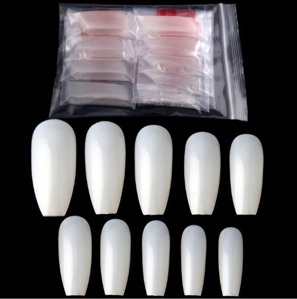 best selling 600 pieces Nail piece White Natural Color Finger nails False Nails Tips Manicure Nail Art & Salon
