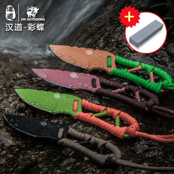 HX OUTDOORS Butterfly D2 steel high hardness diving knife field survival knife, self-defense portable knife