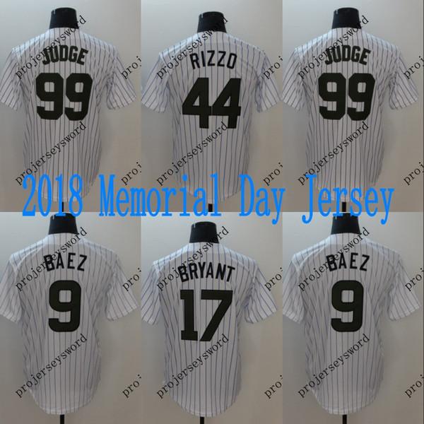 Mens 2018 Memorial Day Jersey Chicago 9 Javier Baez 17 KrisBryant 44 Anthony Rizzo New York 99 Aaron Judge Baseball Jerseys Cheap Mix Order