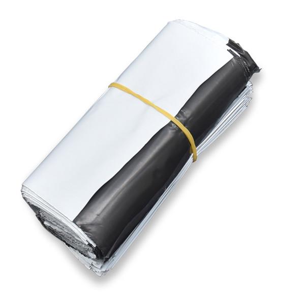 100 шт. / Лот 11 * 14 + 4 см Белый Доставка Пластиковая Упаковка Мешки Продукты Почта Курьерской Поставки Хранения Рассылки Самоклеющиеся Пакет Мешок