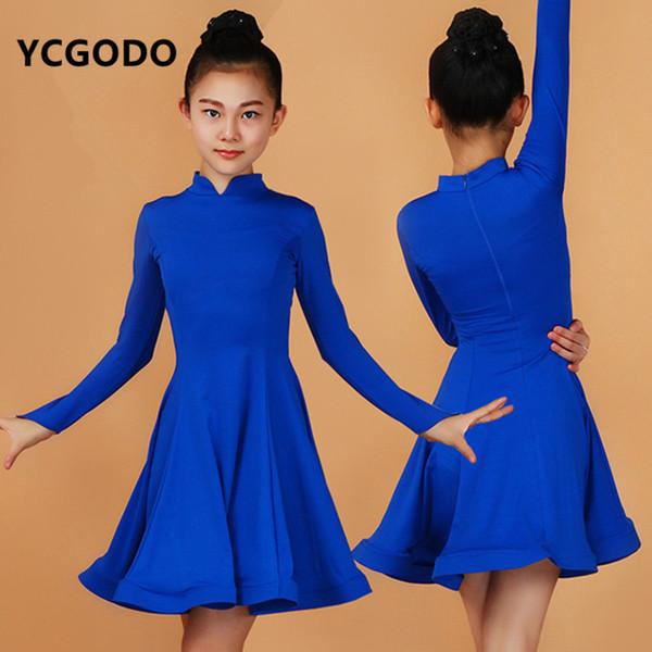여자 블랙 라이트 레드 퍼플 라틴 드레스 볼룸 댄스 드레스 키즈 삼바 드레스 소녀 살사 의상 무용 치마 치마