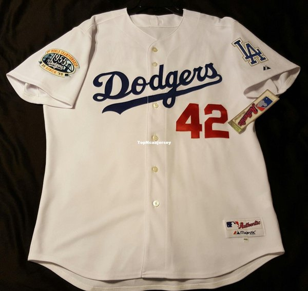reputable site f38f5 ed6ef 2019 Top Cheap Los Angeles #42 JACKIE ROBINSON Jersey Mens Stitched  Wholesale Big And Tall SIZE XS 6XL Shirt Jerseys From Topncaajersey, $19.19  | ...