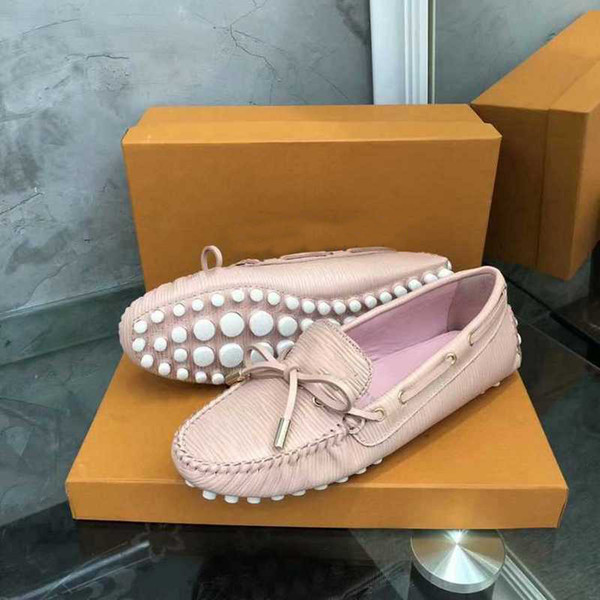 [Caixa Orignal] Luxo New Womens Drive Loafers Vestido Bombas de Dança Sapato Único Deslizamento Em Sapatos Sexy Tamanho 35-41