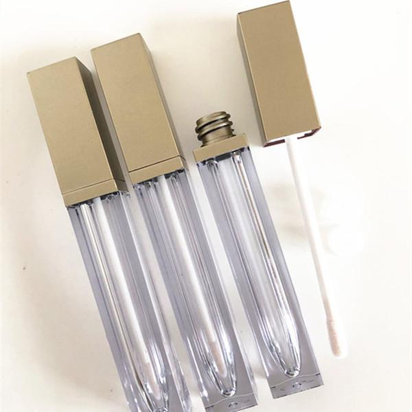 6ml Vuoto Lip Gloss Tube Oro Nero Fashion Lipstick Lipgloss Tubi Bottiglie Donne Make Up Contenitore di imballaggio F1305