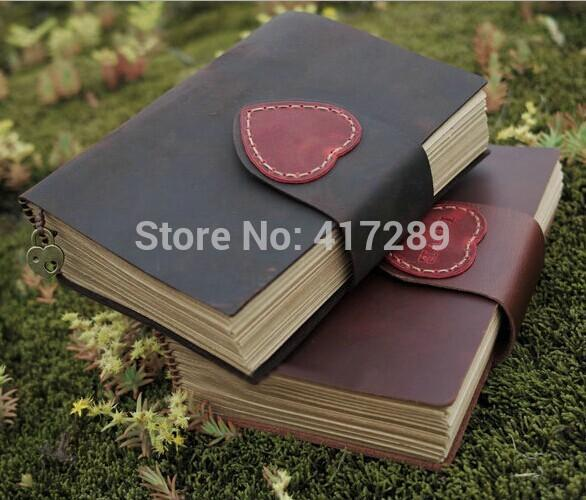 100% fait à la main en cuir véritable cahier journal vintage livre cadeau journal de voyage peut aider à marquer des mots