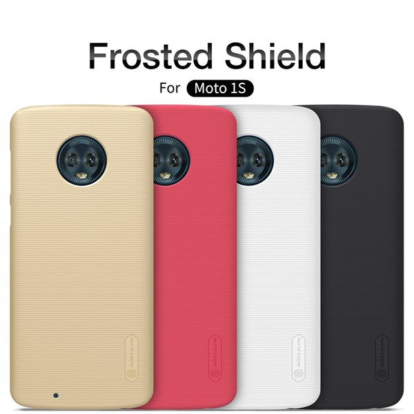 Nillkin Case For Moto 1S Frosted Shield Hard Back Cover sFor Moto 1 S 1S with free screen protector