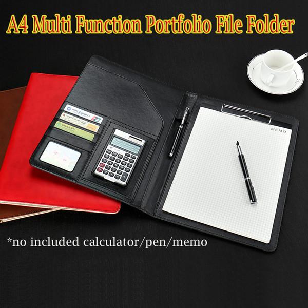 Großhandel Leder Clip Binder Datei Ordner Tasche Für A4 Papier Portfolio Karteikarte Datei Umschlag Umschlaghalter Dokumententasche Menü Ordner Von