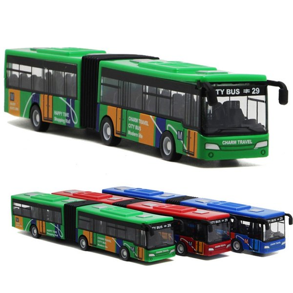 18cm Children's Metal Diecast Model Vehicle Shuttle Bus Cars Toys Small Baby Pull Back Toy Gift for kids